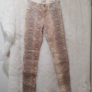 GUESS Animal Print Skinny Jeans